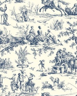 Papier peint Initiales Toiles 4 Saisons Bleu clair AF2000