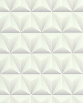 Papier Peint Lutèce Reality 3 Triangles Blanc 51176400