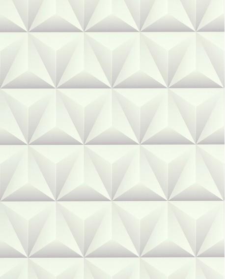 Papier Peint Lutece Reality 3 Triangles Blanc 51176400