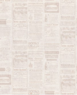Papier peint WORDS NEWSPAPER BEIGE WRD67131017