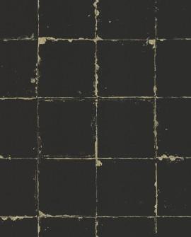 Papier Peint Lutèce Reality 3 Carrelage Noir 51185309