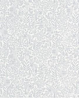 Papier peint Caselio Hygge Raccoon Gris bleu 100549100