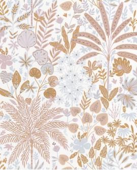 Papier peint Caselio Hygge Hope Rose et gris 100594811