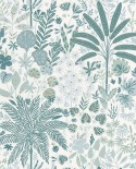 Papier peint Caselio Hygge Hope Vert d'eau et blanc 100597128