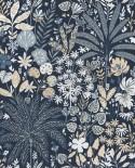 Papier peint Caselio Hygge Hope Bleu nuit et doré 100596913