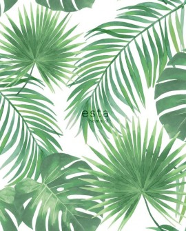 Papier peint Esta Home Jungle Fever Feuilles tropicales 139013