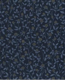 Papier peint Caselio Hygge Serenity Bleu nuit doré 100566905