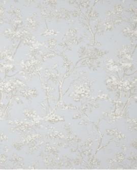 Tissu Casadeco Toile de Jouy Fontainebleau Arbres Bleu FONS81746116