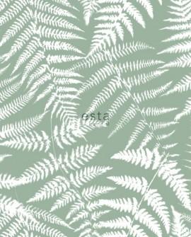 Papier peint Esta Home Jungle Fever Fougères Vert menthe 138998