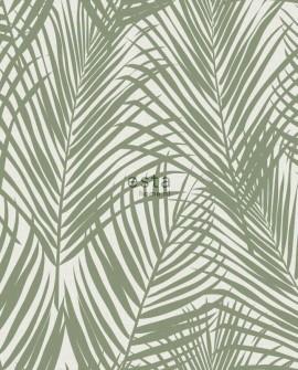 Papier peint Esta Home Jungle Fever Feuilles de palmier vert 139006
