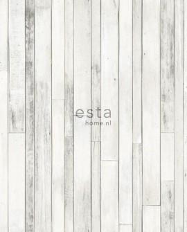 Papier peint Esta Home Regatta Crew Planches de récup Blanc 138816