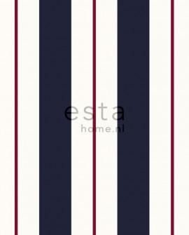 Papier peint Esta Home Regatta Crew Rayures Bleu et rouge 136415