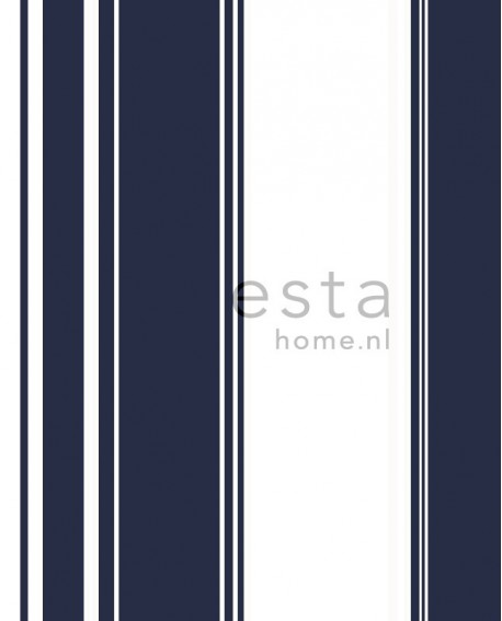 Papier peint Esta Home Regatta Crew Rayures Bleu 136417