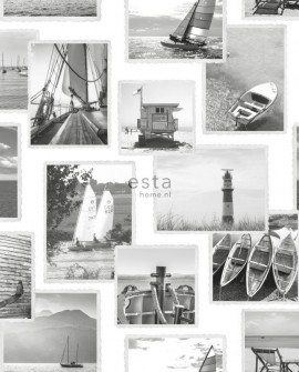 Papier peint Esta Home Regatta Crew Photomur Gris 138956