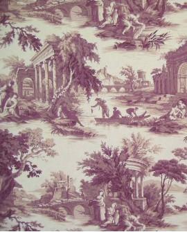 Tissu Toiles de Jouy Casal Scènes de pêche Parme 30301