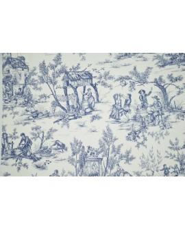Tissu Toiles de Jouy Casal Jouy : le village Bleu 30260