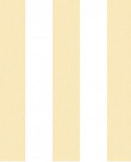Papier peint Lutèce Jeux de Rayures 2 Rayure Jaune et blanc G67587