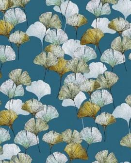 Tissu Thevenon Céline fond bleu canard 2250604