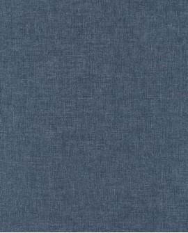 Papier peint Caselio Linen 2 Bleu marine 68526598
