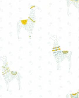 Papier peint Caselio GIRL POWER LAMASTE VERT MINT 100757910