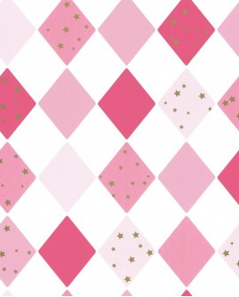 Papier peint Caselio GIRL POWER SHINE BRIGHT LIKE A DIAMOND ROSE/FUSHIA 100814109
