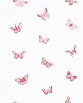 Papier peint Caselio GIRL POWER LET'S FLY ROSE/FUSHIA 100824535