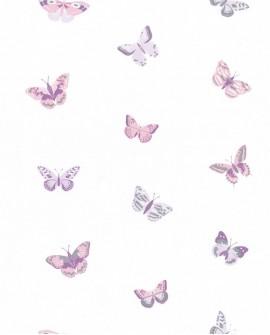 Papier peint Caselio GIRL POWER LET'S FLY ROSE/PARME 100825818