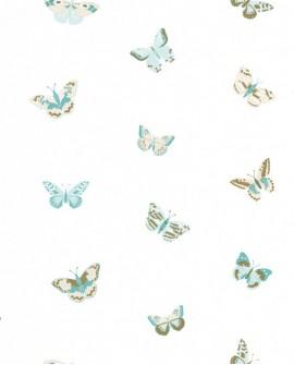 Papier peint Caselio GIRL POWER LET'S FLY BLEU/BEIGE 100826000