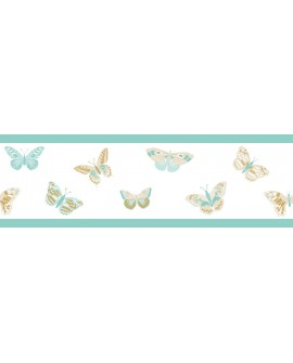 Frise Caselio GIRL POWER BUTTERFLY BLEU/BEIGE 100896129