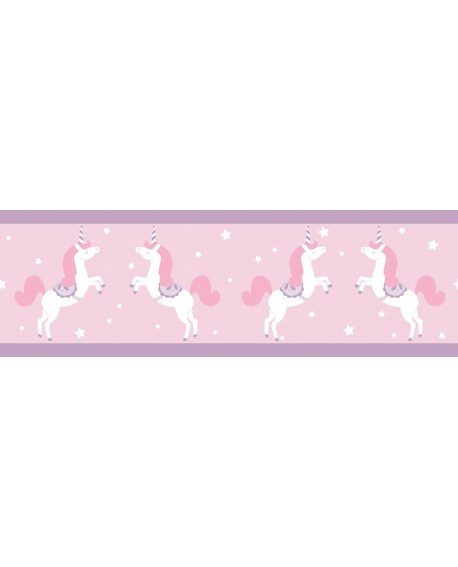 Frise Caselio GIRL POWER UNICORN ROSE/PARME 100905010