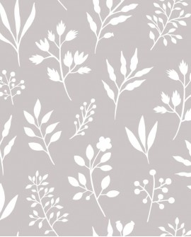 Papier peint Esta Home Scandi Cool Fleurs scandinaves Gris 139084