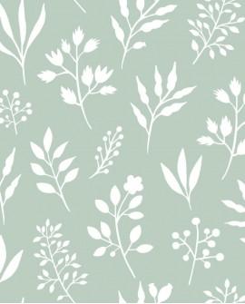 Papier peint Esta Home Scandi Cool Fleurs scandinaves Vert 139085