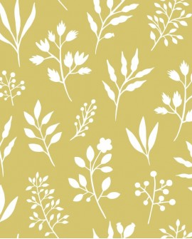Papier peint Esta Home Scandi Cool Fleurs scandinaves Jaune 139086