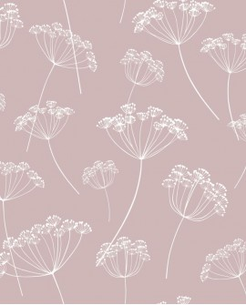 Papier peint Esta Home Scandi Cool Ombelles Rose 139103