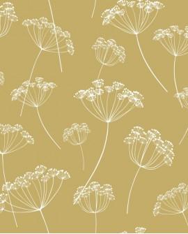 Papier peint Esta Home Scandi Cool Ombelles Ocre jaune 139104