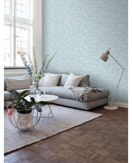 Papier peint Esta Home Scandi Cool Ombelles Bleu 139102