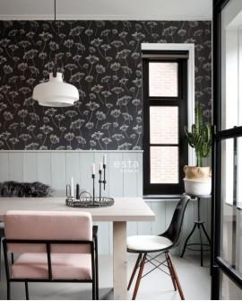 Papier peint Esta Home Scandi Cool Ombelles Noir 139105