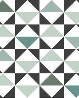 Papier peint Esta Home Scandi Cool Triangles Vert 139096
