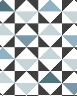 Papier peint Esta Home Scandi Cool Triangles Bleu 139097