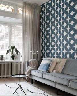 Papier peint Esta Home Scandi Cool Graphique Vert 139100