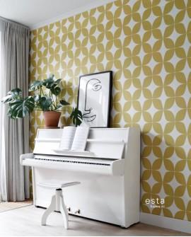 Papier peint Esta Home Scandi Cool Graphique Jaune 139098