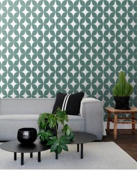 Papier peint Esta Home Scandi Cool Graphique Vert 139099