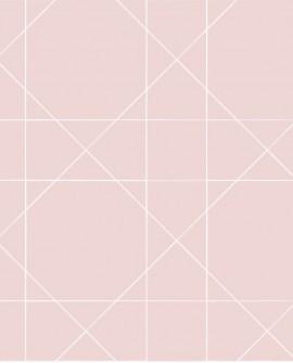 Papier peint Esta Home Scandi Cool Ligne Graphique Rose 139091