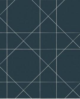 Papier peint Esta Home Scandi Cool Ligne Graphique Bleu 139093