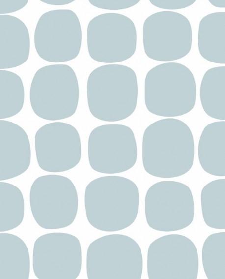 Papier peint Esta Home Scandi Cool Pois Graphique Bleu 139088