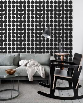 Papier peint Esta Home Scandi Cool Pois Graphique Noir 139090