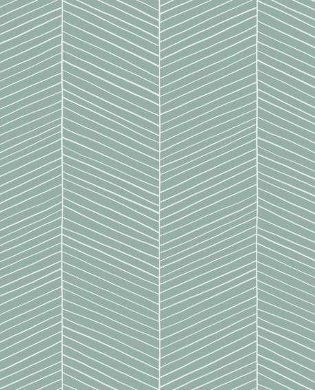 Papier peint Esta Home Scandi Cool Arete de poissons Vert 139108