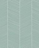 Papier peint Esta Home Scandi Cool Chevrons Vert 139108