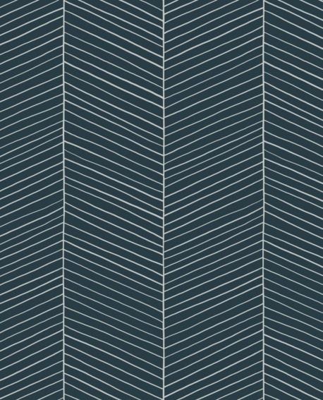 Papier peint Esta Home Scandi Cool Arete de poissons Bleu 139109
