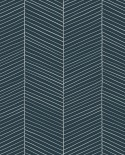 Papier peint Esta Home Scandi Cool Chevrons Bleu 139109